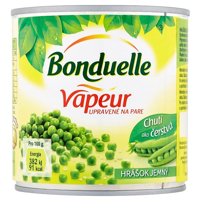 Bonduelle Vapeur Hrášok jemný 320 g
