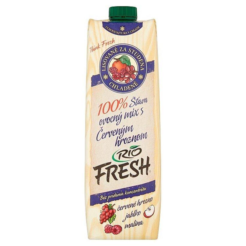 RIO FRESH 100% šťava ovocný mix s červeným hroznom 1 l