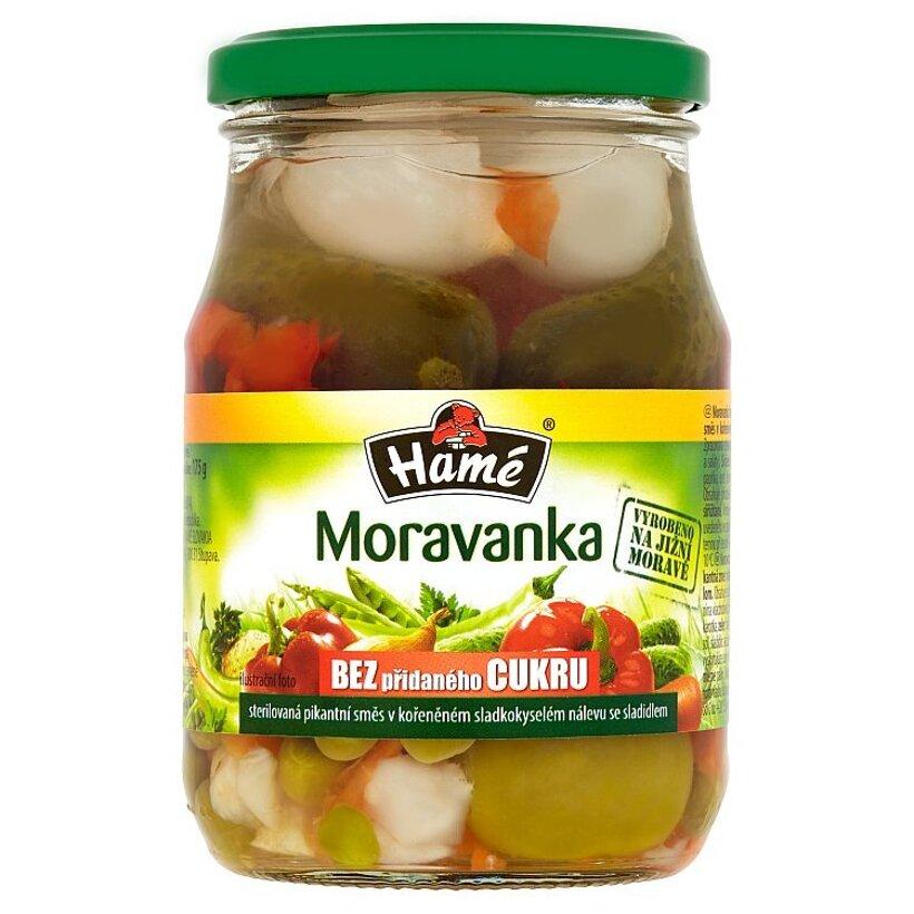 Hamé Moravanka sterilizovaná pikantná zmes v korenenom sladkokyslom náleve so sladidlom 330 g