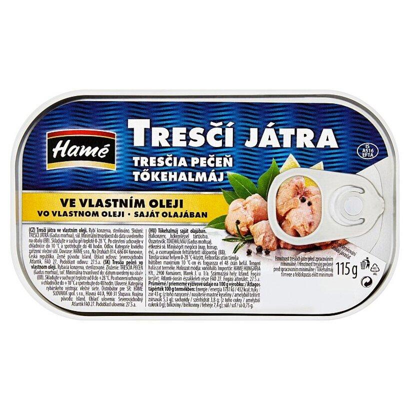 Hamé Tresčia pečeň vo vlastnom oleji 115 g