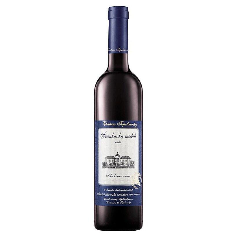 Château Topoľčianky Frankovka modrá slovenské akostné odrodové víno suché červené 0,75 l