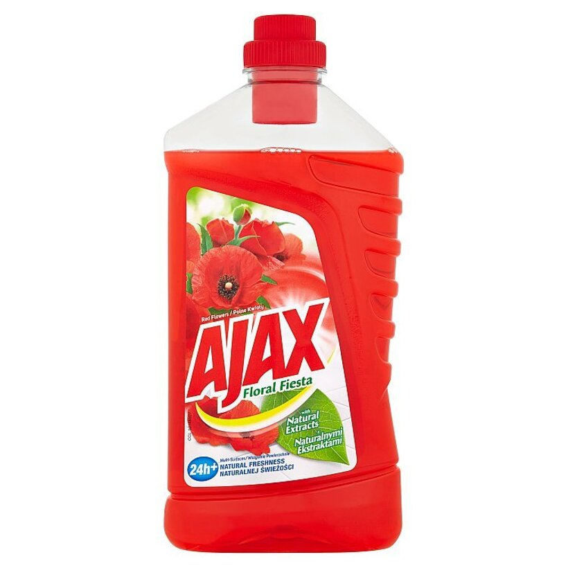Ajax Floral Fiesta Red Flowers čistič povrchov pre domácnosť 1 l