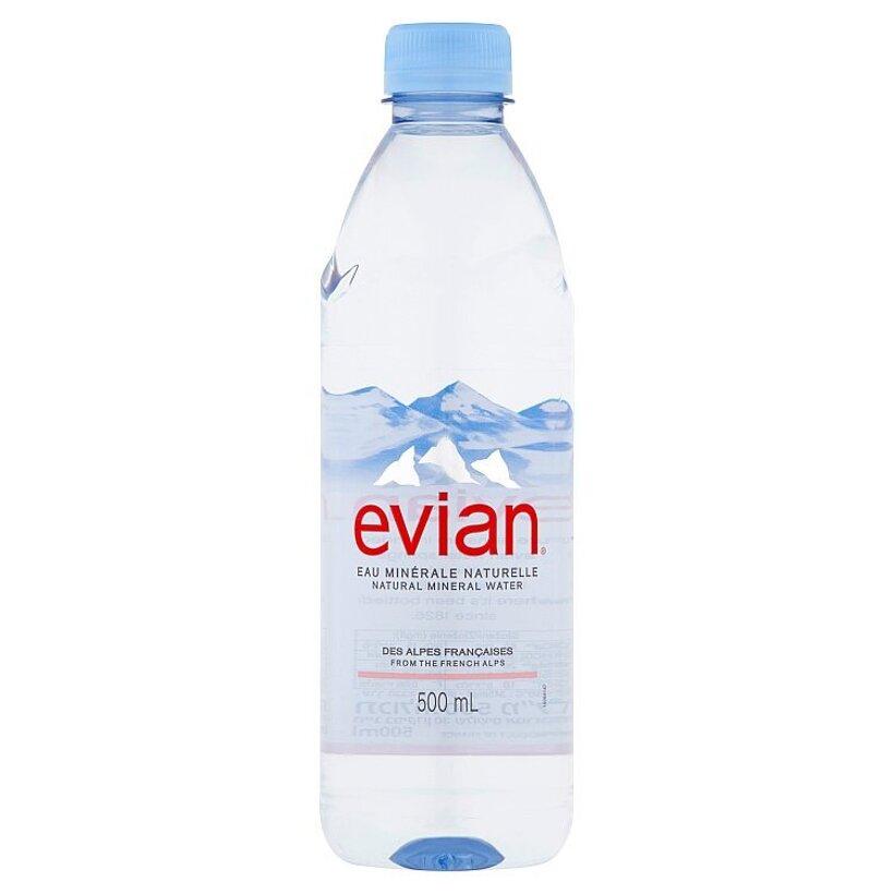 Evian Prírodná minerálna voda nesýtená 500 ml