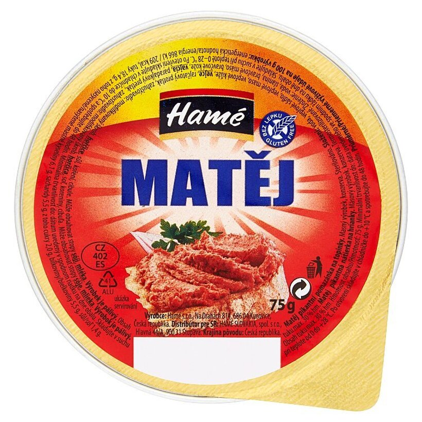 Hamé Matej pikantná nátierka na hrianky 75 g