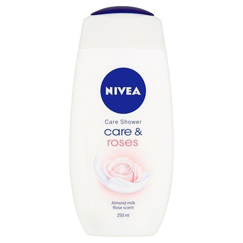 Nivea Care & Roses Ošetrujúci sprchový gél 250 ml