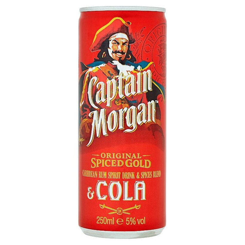 Captain Morgan & Cola 250 ml