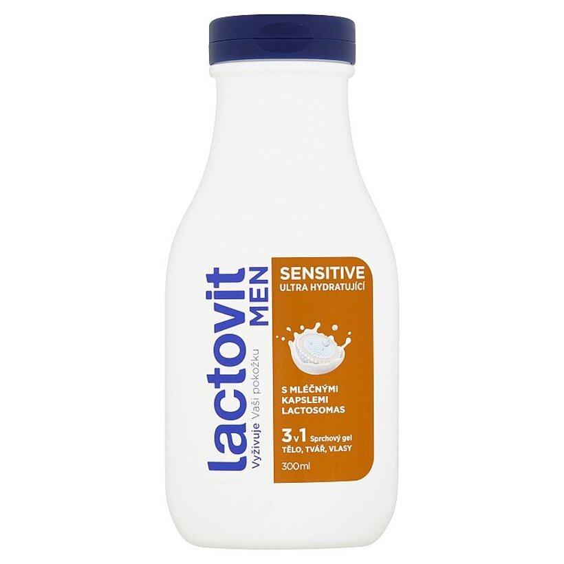 Lactovit Men Sensitive 3 v 1 hydratujúci sprchový gél 300 ml