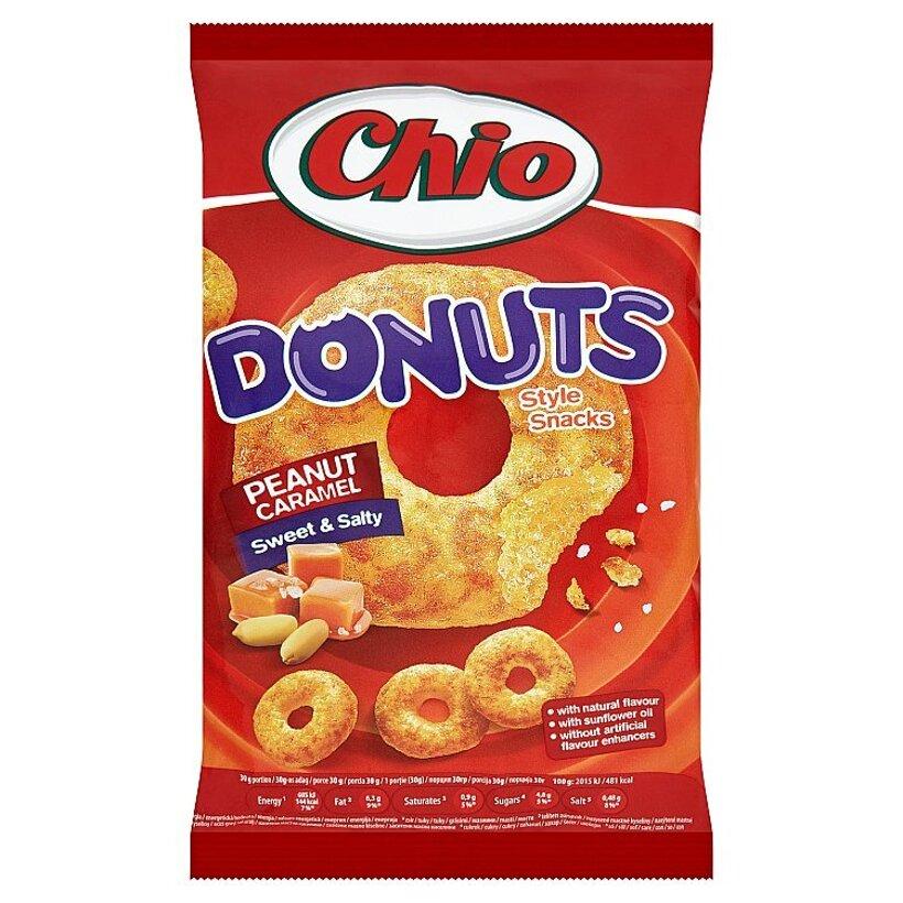 Chio Donuts kukuričný snack s arašidami s karamelovou príchuťou 80 g