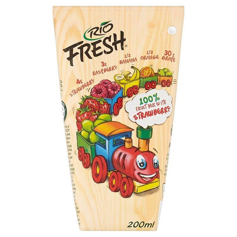 RIO FRESH Ovocný mix s jahodami 200 ml