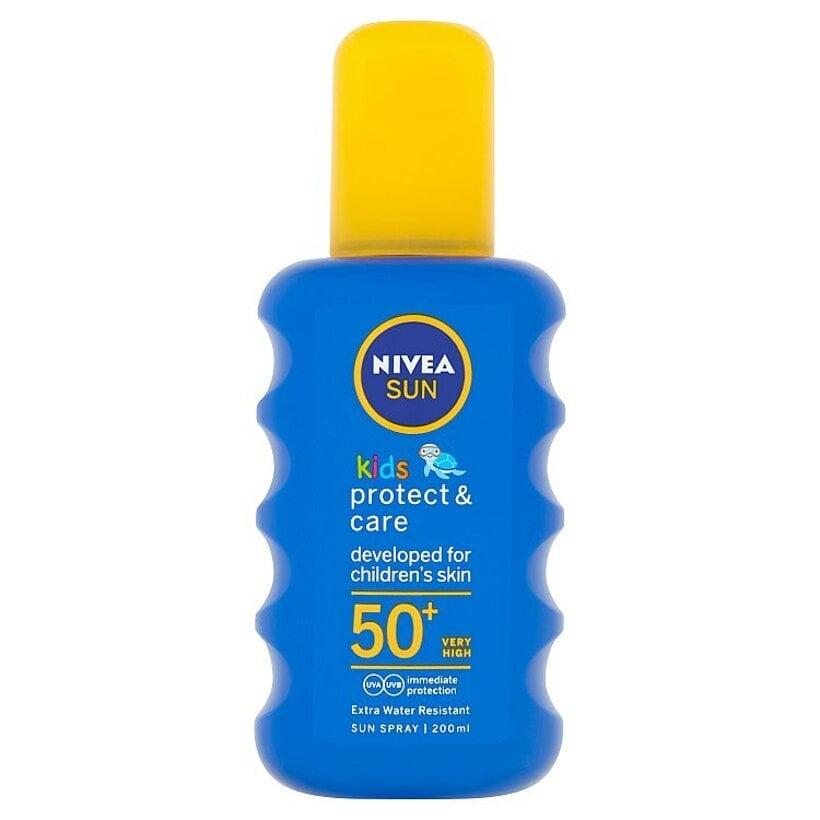 Nivea Sun Protect & Care Detský farebný sprej na opaľovanie OF 50+ 200 ml