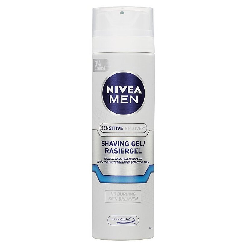 Nivea Men Sensitive Recovery Gél na holenie 200 ml