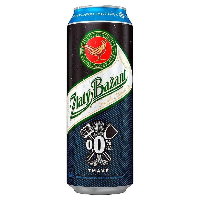 Zlatý Bažant Tmavé nealkoholické pivo 0,0% 500 ml