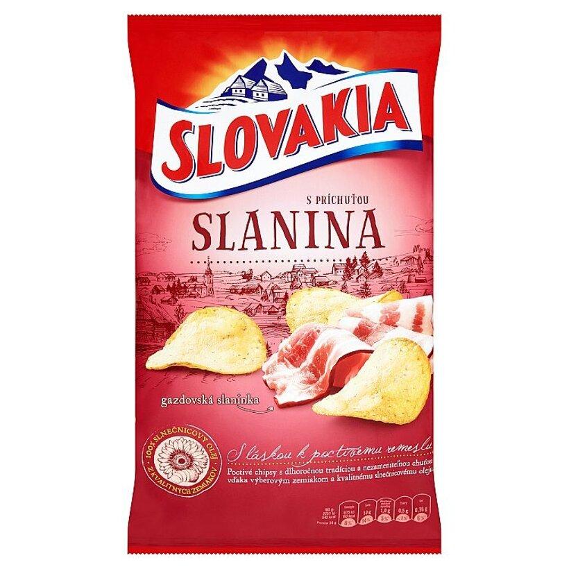 Slovakia Chips S príchuťou slanina 140 g