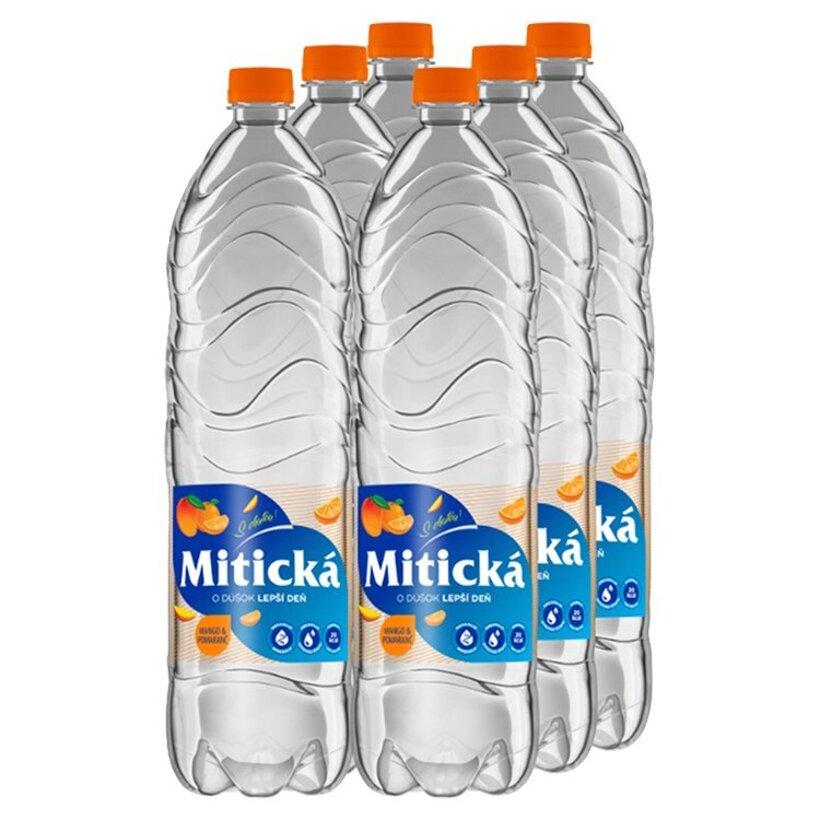 Mitická Mango & pomaranč jemne perlivá ochutená minerálna voda 6 x 1,5 l