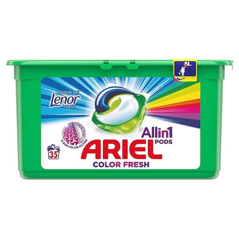 Ariel All In 1 Pods Touch Of Lenor Fresh Color, Gélové Kapsuly Na Pranie, 35 Praní