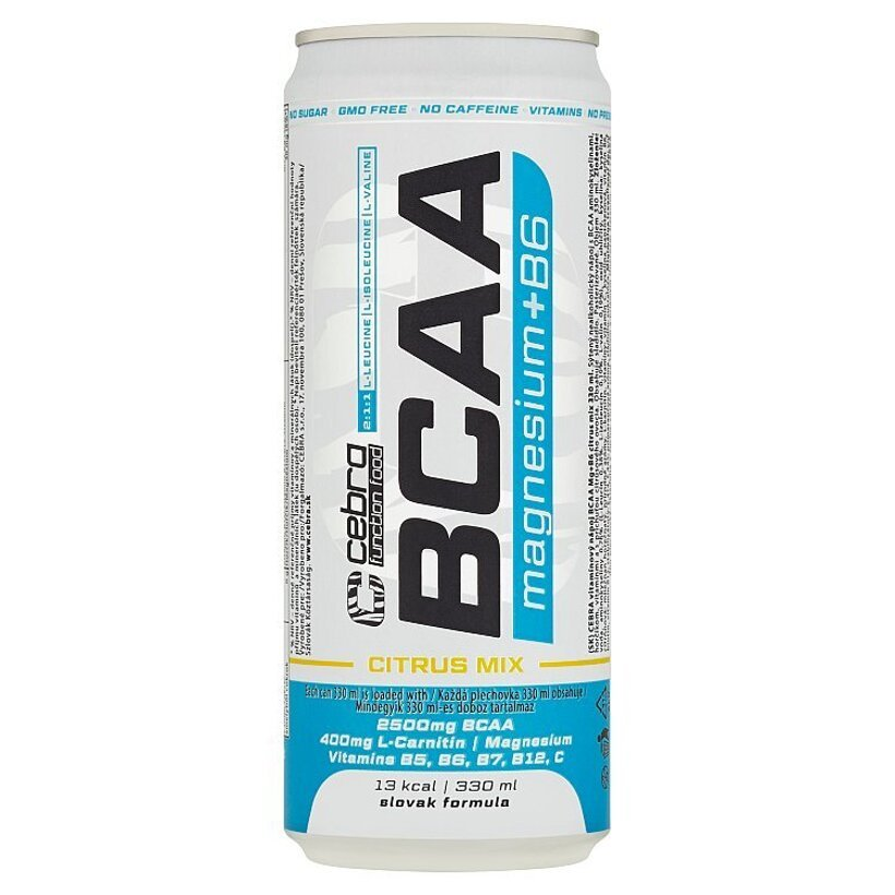 Cebra Function Food Vitamínový nápoj BCAA Mg+B6 Citrus Mix 330 ml