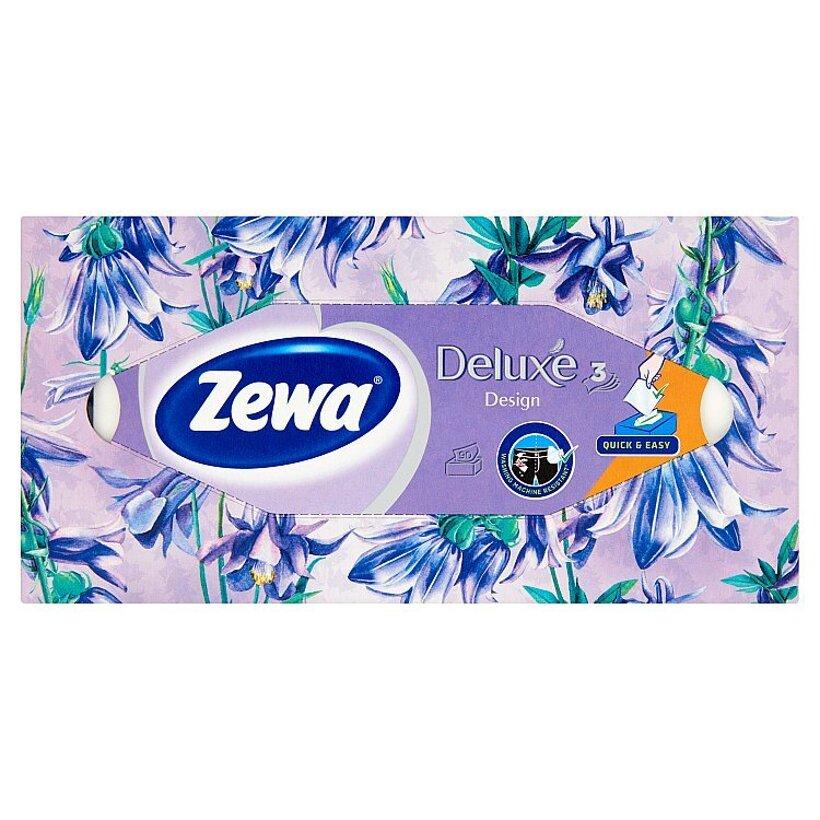 Zewa Deluxe Design papierové vreckovky 3-vrstvové 90 ks