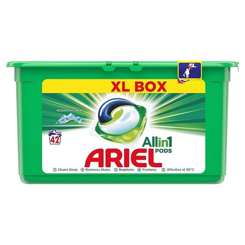 Ariel All In 1 Pods Mountain Spring, Gélové Kapsuly Na Pranie, 42 Praní