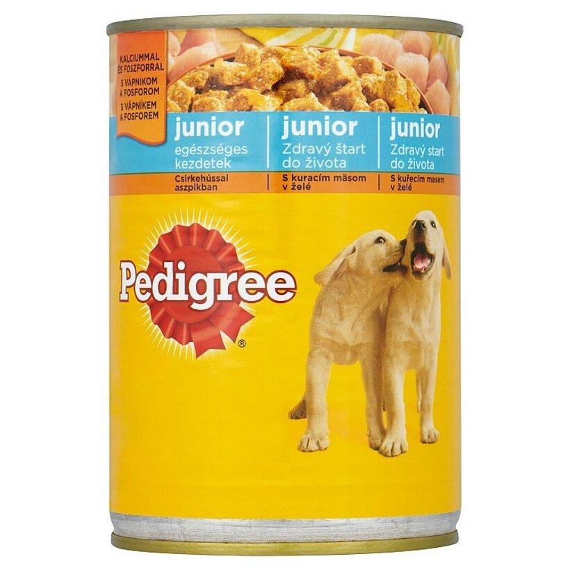 Pedigree Junior Kuracie mäso v želé kompletné krmivo pre rastúce psy a šteňatá 400 g