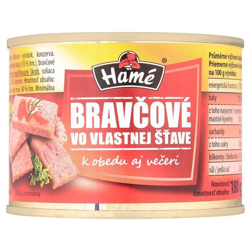 Hamé Bravčové vo vlastnej šťave 180 g