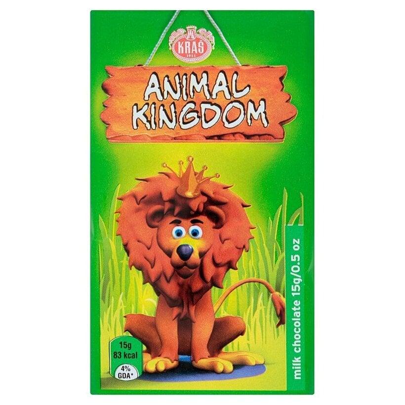 Kraš Animal kingdom mliečna čokoláda 15 g