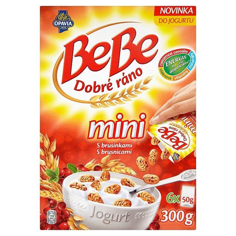 Opavia Bebe Dobré ráno mini cereálne sušienky s kúskami brusníc 6 x 50 g