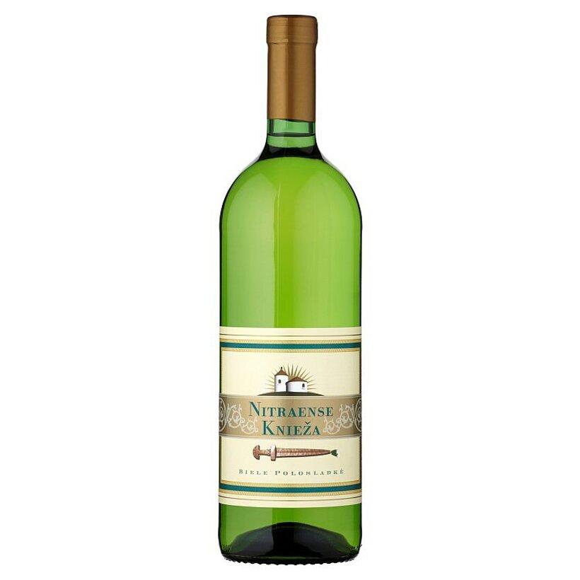 Víno Nitra Nitraense knieža biele polosladké víno 1 l