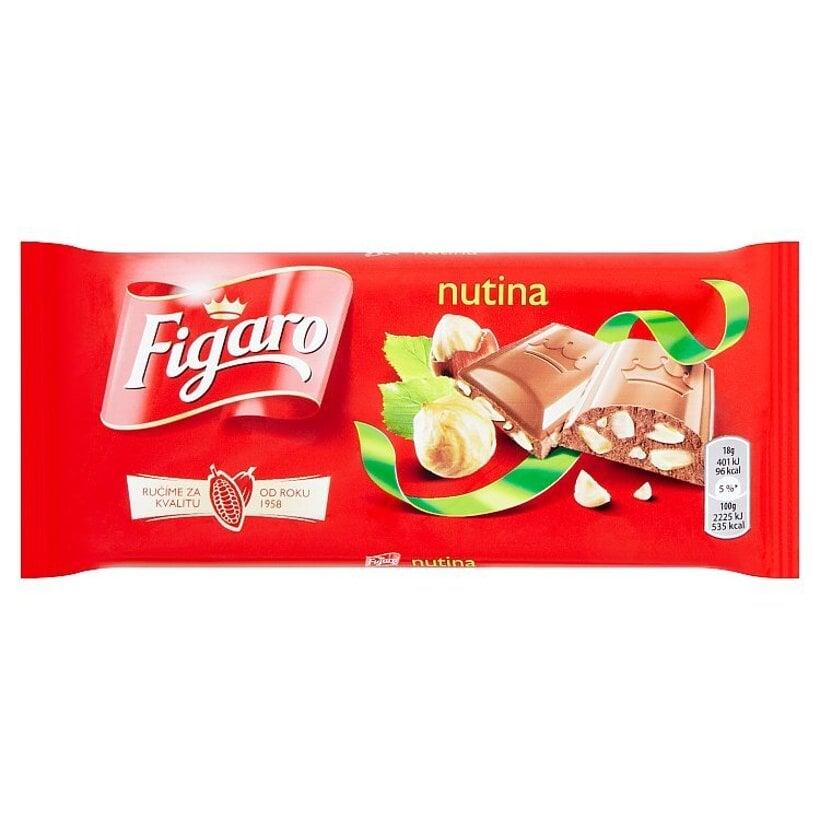 Figaro Nutina mliečna čokoláda s drvenými lieskovými orechami 90 g