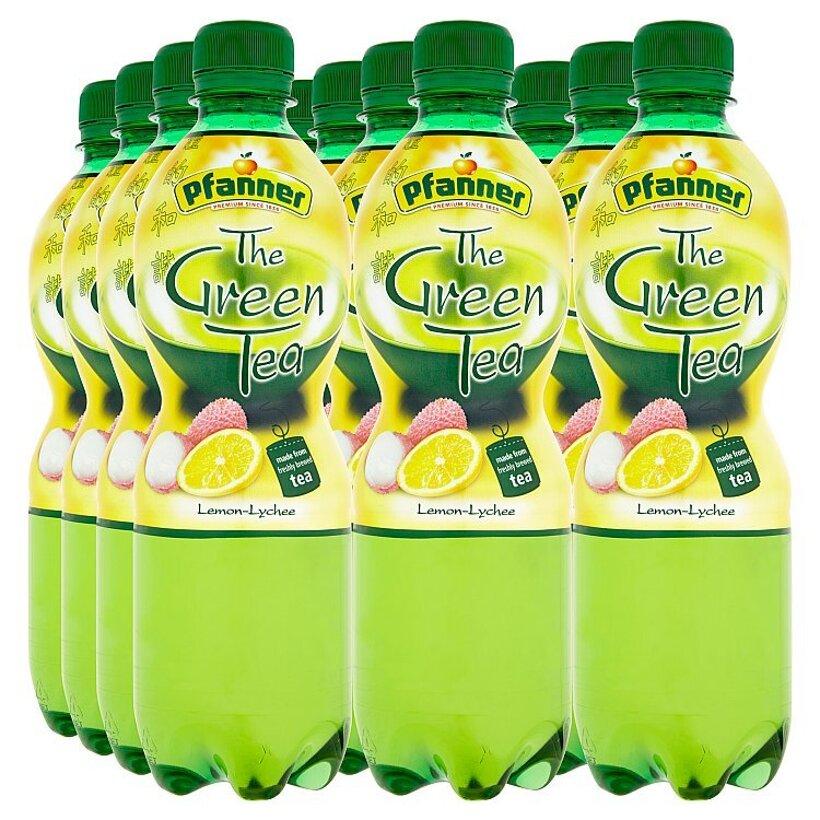 Pfanner Čajový nápoj s citrónovo-liči príchuťou 12 x 0,5 l