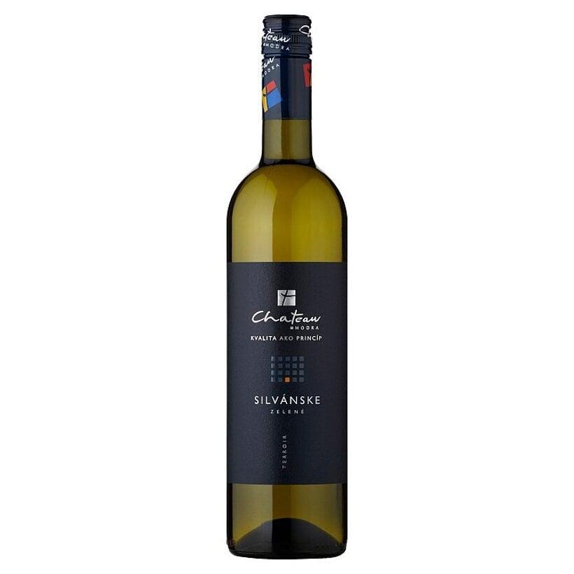Chateau Modra Silvánske zelené akostné odrodové víno biele suché 0,75 l