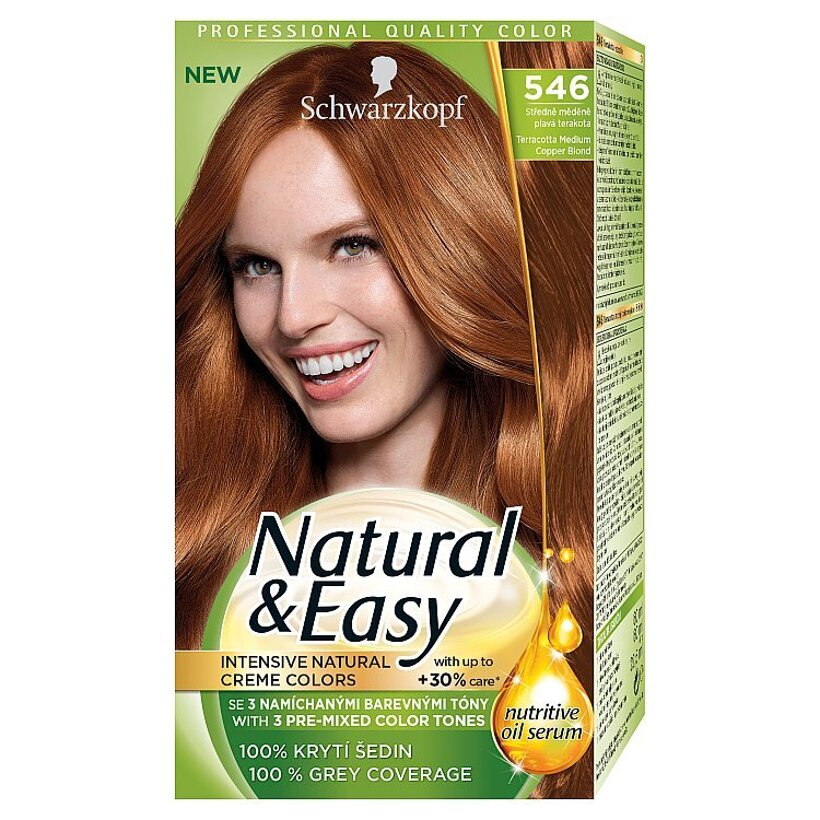 Schwarzkopf Natural & Easy farba na vlasy Strednemedenoplavá Terakota 546