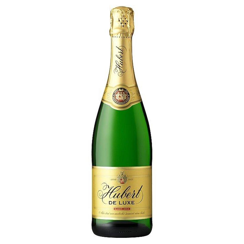 Hubert De Luxe Akostné aromatické šumivé víno biele sladké doux 0,75 l