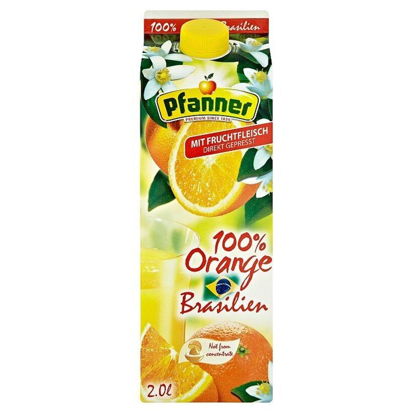 Pfanner 100% pomarančová šťava s dreňou 2 l