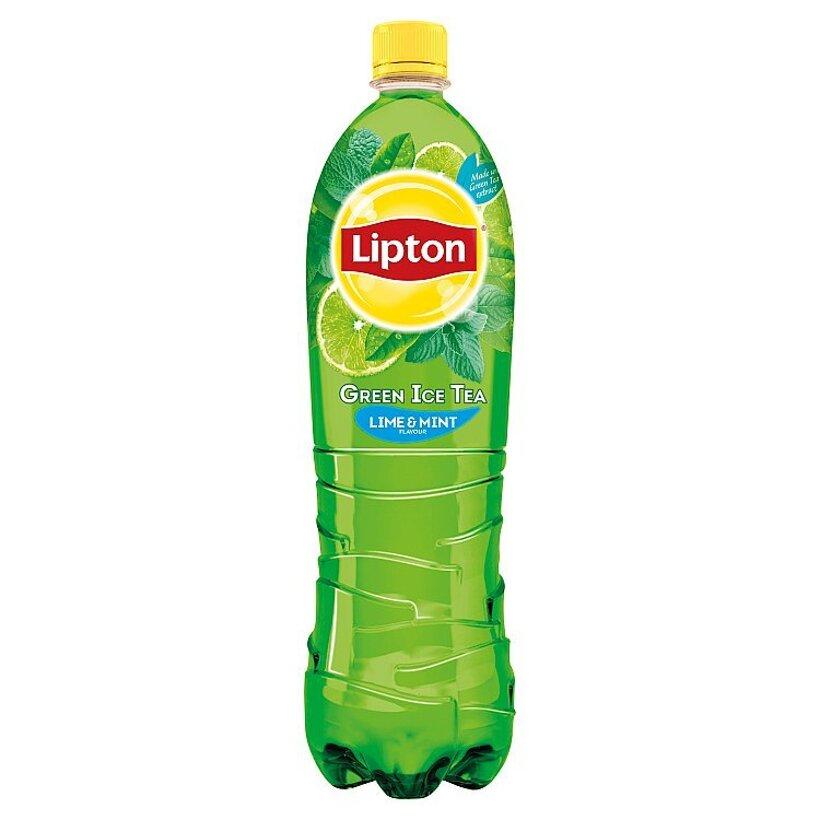 Lipton Ľadový zelený čaj s príchuťou limetky a mäty 1,5 l