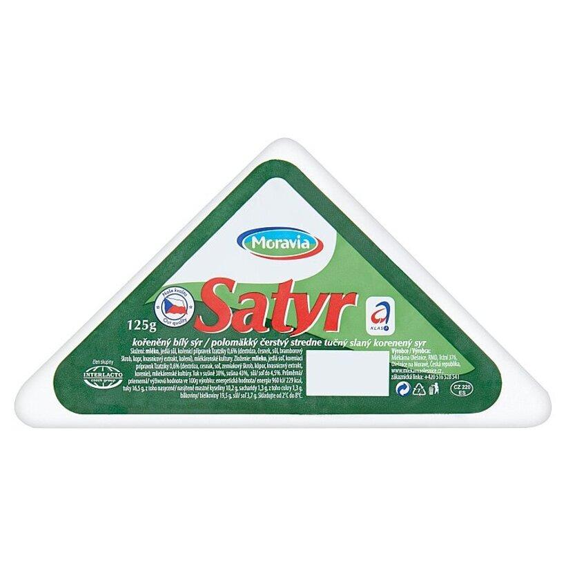 Moravia Satyr polomäkký korenený syr 125 g