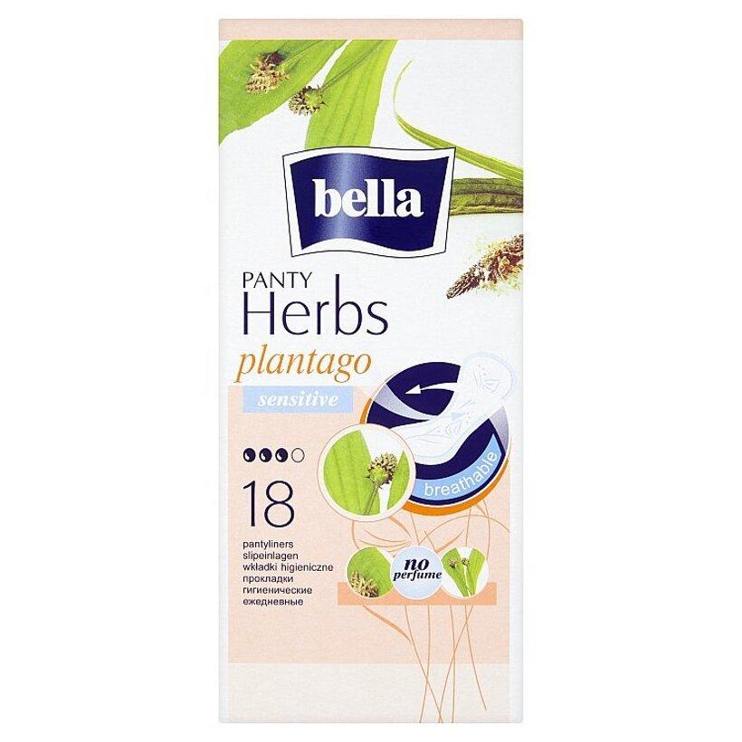Bella Herbs Plantago priedušné slipové vložky 18 ks