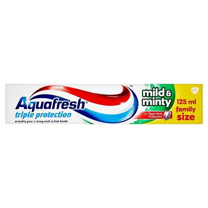 Aquafresh Mild & minty zubná pasta s jemnou mätovou príchuťou 125 ml