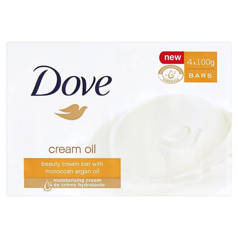 Dove Cream Oil Krémová tableta na umývanie 4 x 100 g