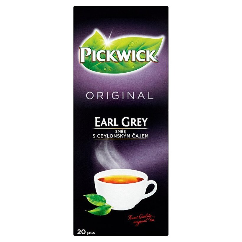 Pickwick Original Earl Grey čierny čaj aromatizovaný 20 x 1,75 g