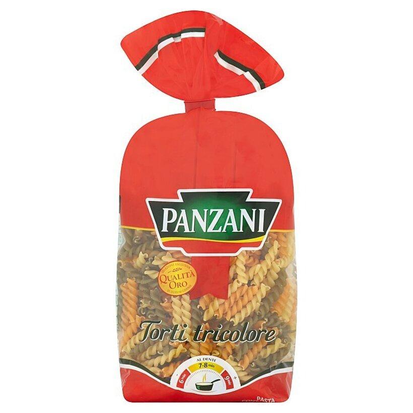 Panzani Torti Tricolore cestoviny semolinové ochutené paradajkami a špenátom 500 g