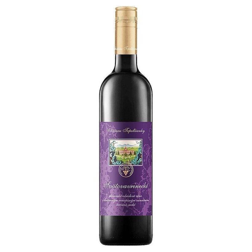 Château Topoľčianky Svätovavrinecké slovenské odrodové víno červené suché 0,75 l