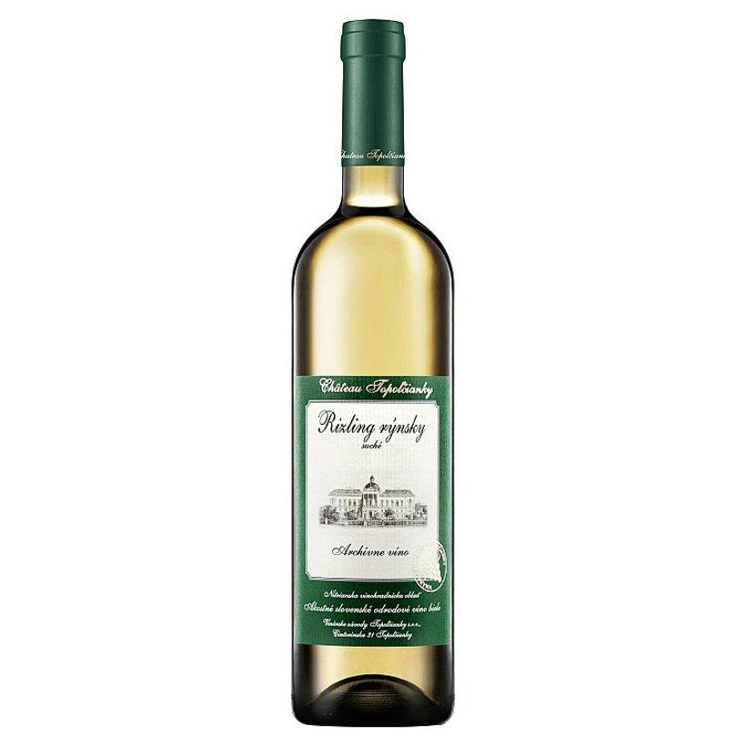 Château Topoľčianky Rizling rýnsky slovenské akostné odrodové víno biele suché 0,75 l