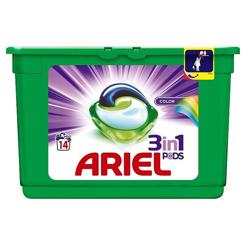 Ariel Color Gélové Kapsuly Na Pranie Pre Žiarivé Farby Na 14 Praní