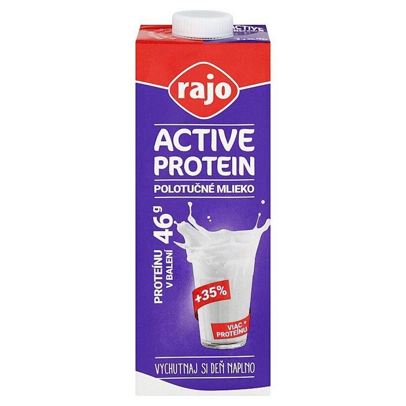 Rajo Active Protein Polotučné mlieko 1,5 % 1 l