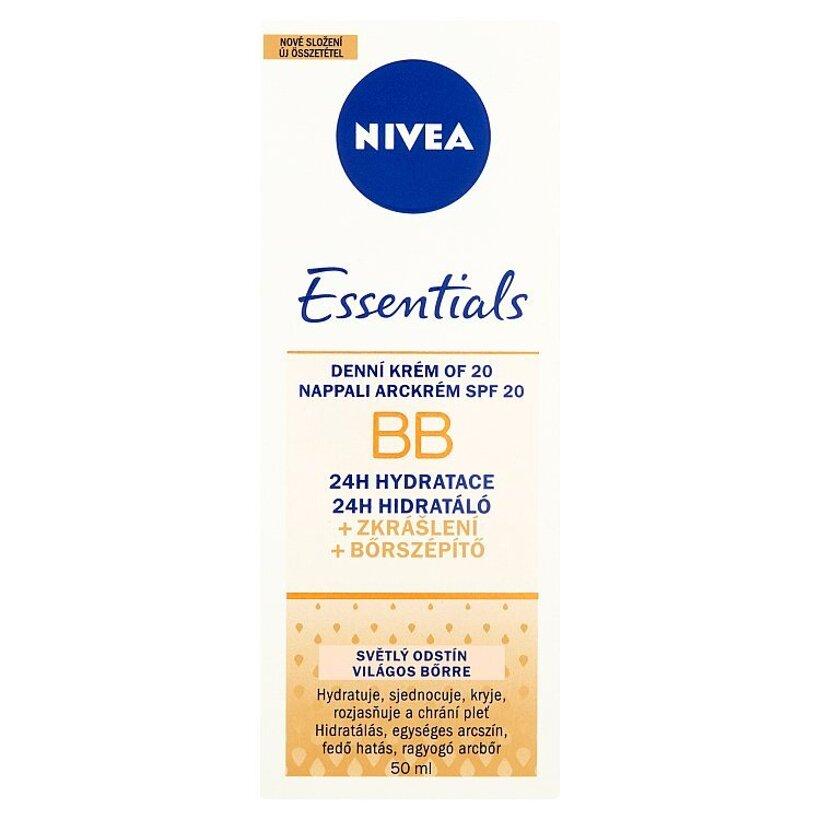 Nivea Essentials BB Denný krém OF 20 svetlý odtieň 50 ml