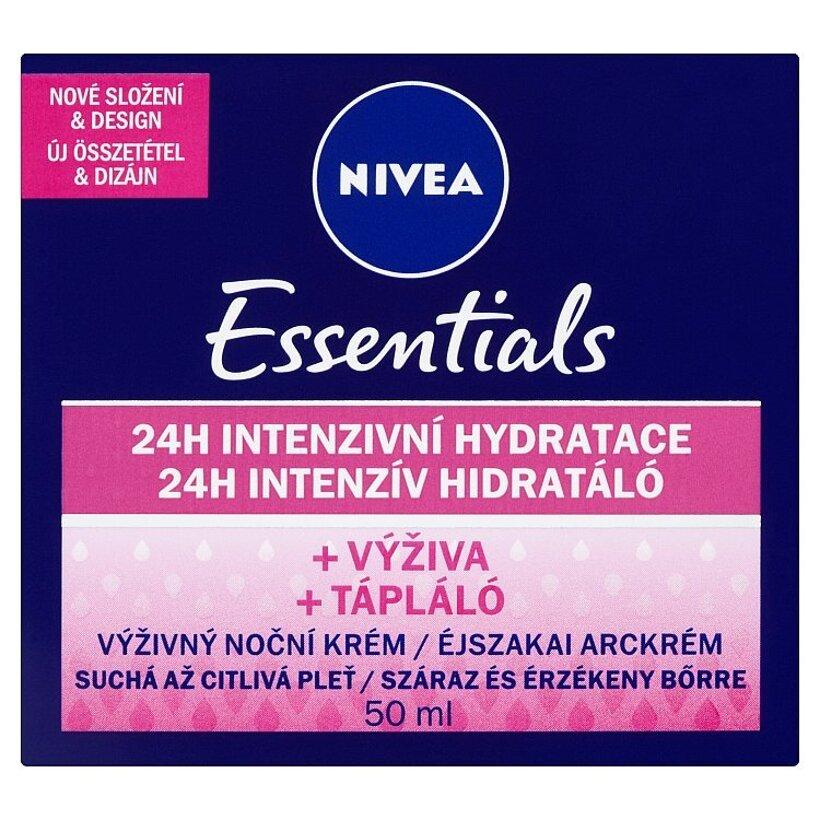 Nivea Essentials Výživný nočný krém suchá až citlivá pleť 50 ml