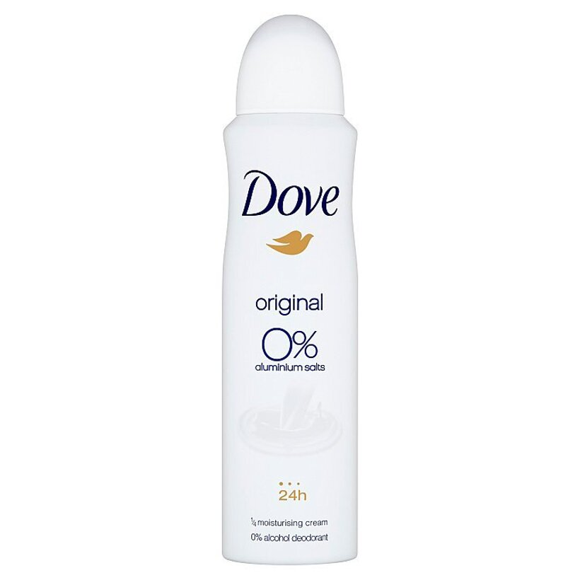 Dove 0% Original dezodorant sprej 150 ml