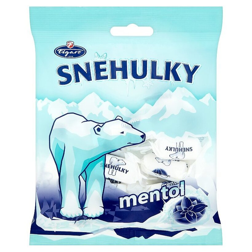Figaro Snehulky Mentolovo-eukalyptové karamely 90 g