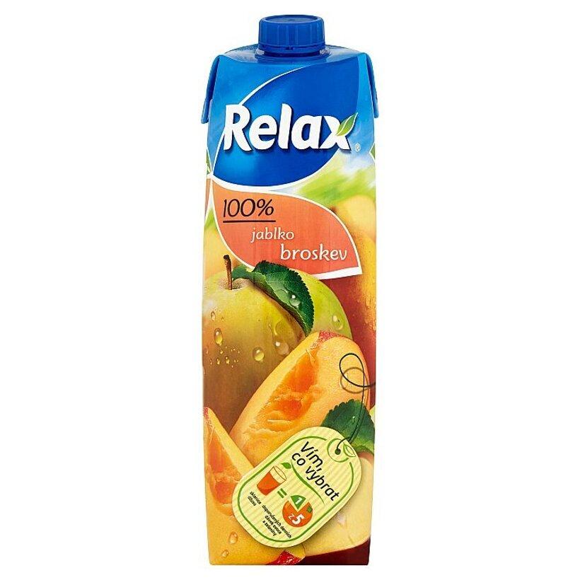 Relax 100% jablko broskyňa 1 l