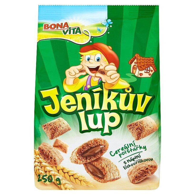 Bona Vita Jeníkův Lup Cereálne vankúšiky s lieskovoorieškovou náplňou 250 g
